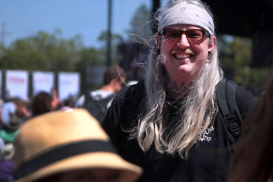 Donavan Kinyon of Napa was all smiles during the Spin Doctors at the 2014 Bottlerock Napa Valley music, food and wine festival on Sunday, June 1, 2014 in Napa, Calif. Photo: Kevin N. Hume, The Chronicle