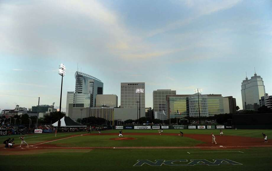 The Texas Longhorns and the Texas A&M Aggies play an NCAA baseball regional game, Sunday, June 1, 2014, at Reckling Park in Houston. Photo: Eric Christian Smith, For The Chronicle