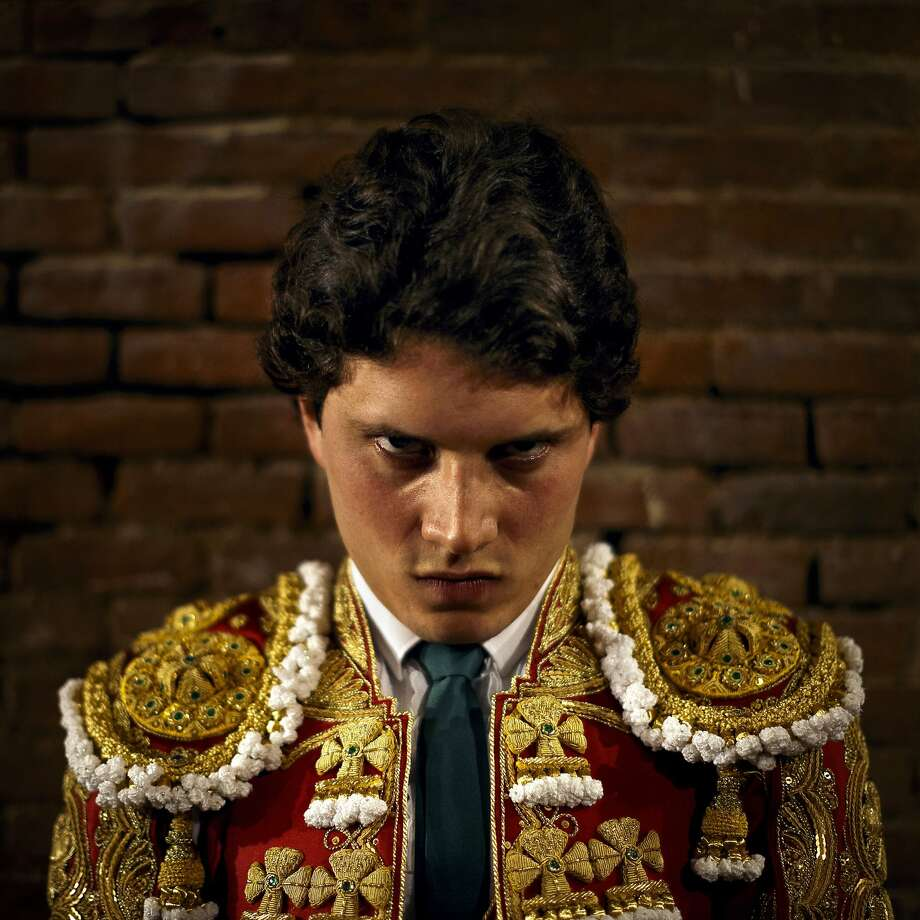 Spanish bullfighter Sebastian Ritter waits for the 'paseillo' or ritual entrance to the arena before a bullfight of the San Isidro fair in Madrid, Spain, Sunday, June 1, 2014. San Isidro's bullfighting fair is one of the most important in the world. Bullfighting is an ancient tradition in Spain. (AP Photo/Daniel Ochoa de Olza) Photo: Daniel Ochoa De Olza, Associated Press