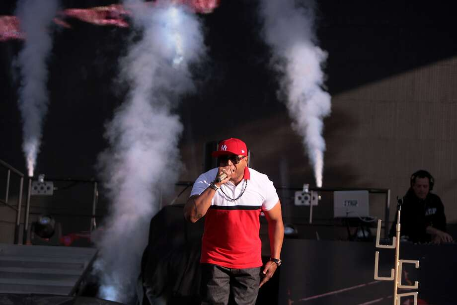 LL Cool J hits the stage as air cannons blast at the 2014 Bottlerock Napa Valley music, food and wine festival on Sunday, June 1, 2014 in Napa, Calif. Photo: Kevin N. Hume, The Chronicle