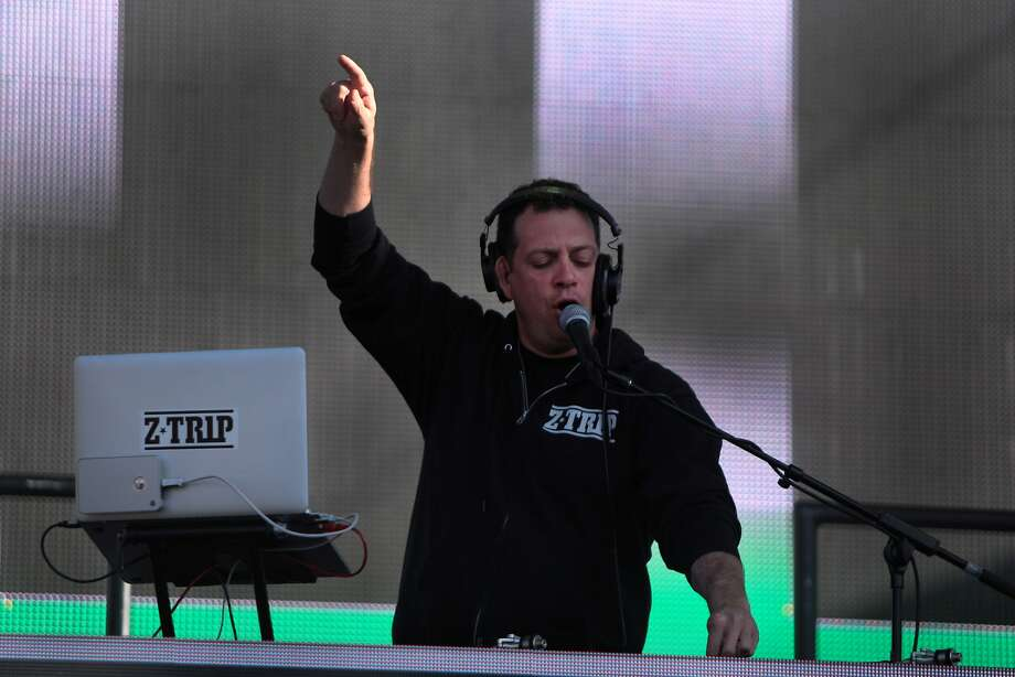 DJ Z-Trip pumps up the crowd before LL Cool J's performance at the 2014 Bottlerock Napa Valley music, food and wine festival on Sunday, June 1, 2014 in Napa, Calif. Photo: Kevin N. Hume, The Chronicle