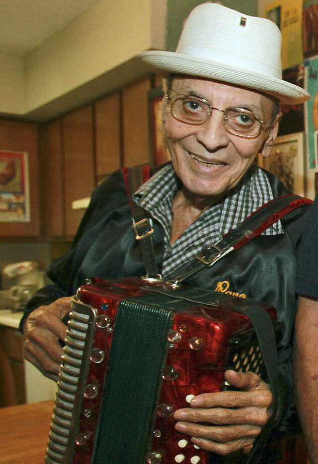 "Accordion legend Salvador ""Pavo"" Garcia died of complications related to heart disease. He was 80. Photo: Express-News File Photo / ©2012 San Antono Express-News"