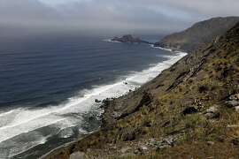 Great views of the coast line are in store for trail travelers when the fog is out Sunday June 1, 2014. The Devil's Slide trail, the once treacherous home to rockslides and accidents, now offers hikers and bicyclists an uncommon view of the coast just south of Pacifica.