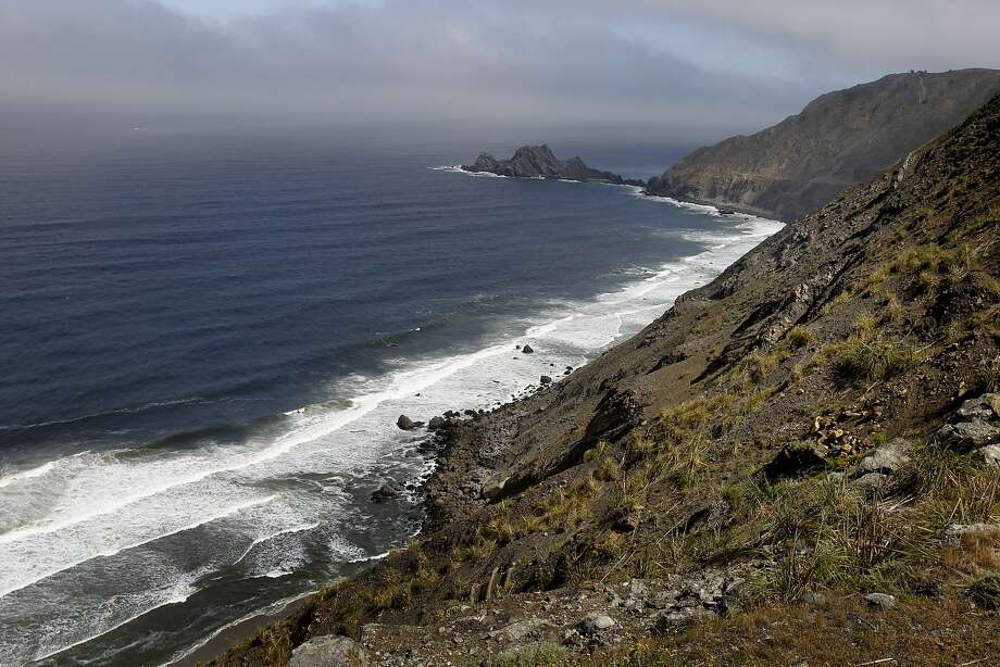 Great views of the coast line are in store for trail travelers when the fog is out Sunday June 1, 2014. The Devil's Slide trail, the once treacherous home to rockslides and accidents, now offers hikers and bicyclists an uncommon view of the coast just south of Pacifica. Photo: Brant Ward, The Chronicle