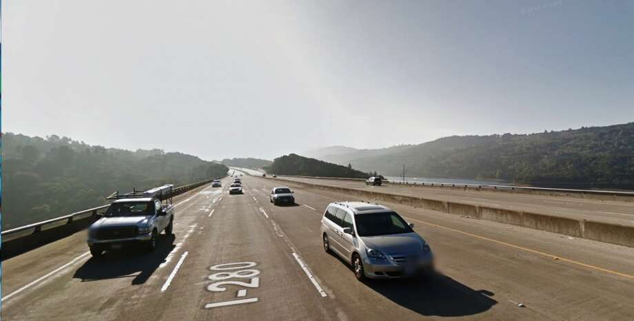Drivers often report police along Interstate 280 near Lower Crystal Springs Reservoir in San Mateo. (Photo: Google Maps)