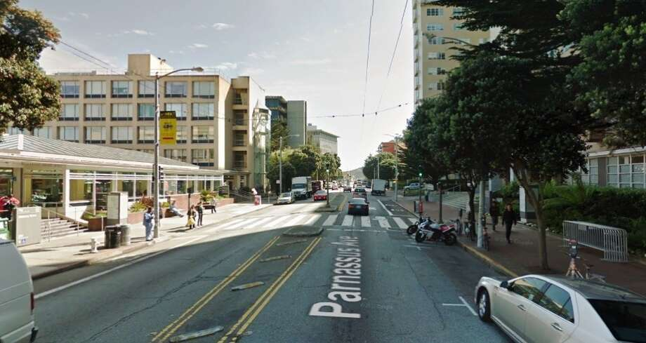 Parnassus Avenue near UCSF is crowded with pedestrians, so cops want to make sure drivers ease up on the pedal. (Photo: Google Maps)