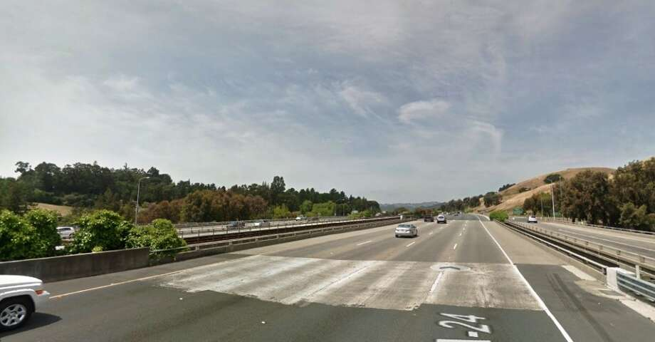 The CHP likes to stake out Highway 24 leaving Walnut Creek just as it nears Pleasant Hill Road. (Photo: Google Maps)