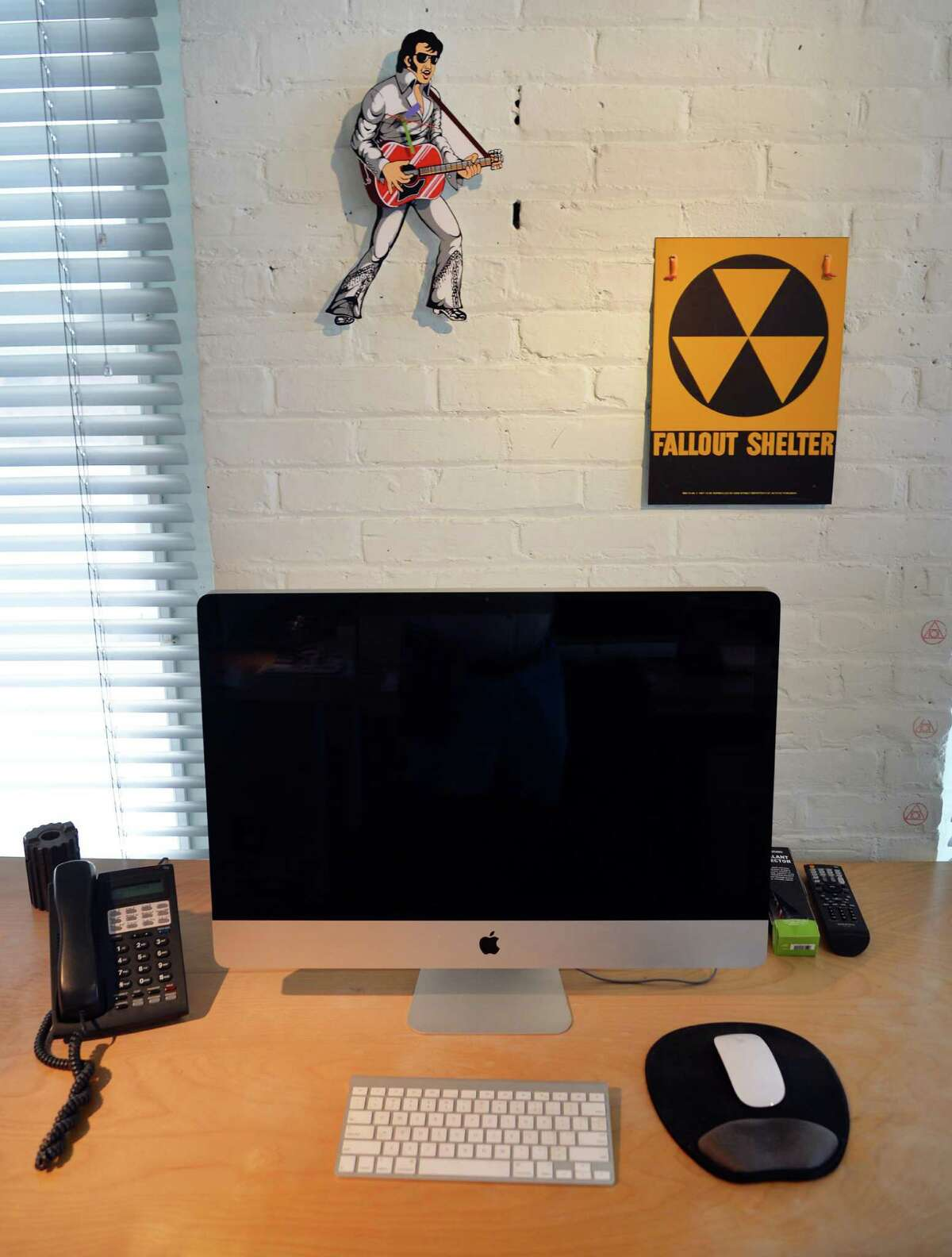 A work station at id29 design studio above Revolution Hall on River Street Wednesday May 14, 2014, in Troy, NY. (John Carl D'Annibale / Times Union)