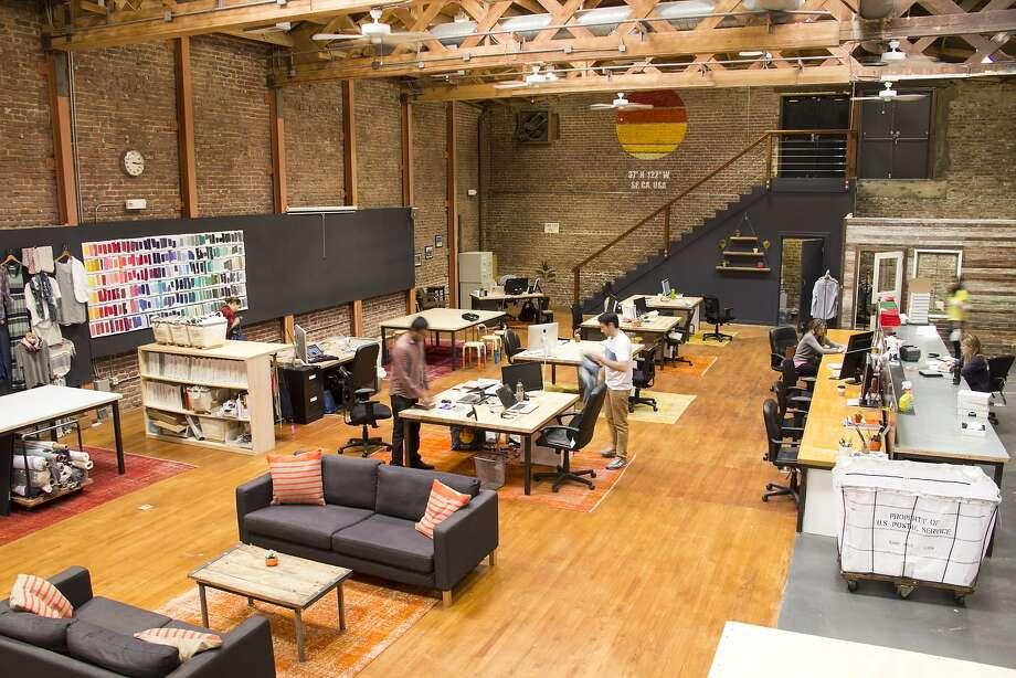 Marine Layer's HQ and design studio on California Street in S.F. invites customers in. Photo: Marine Layer