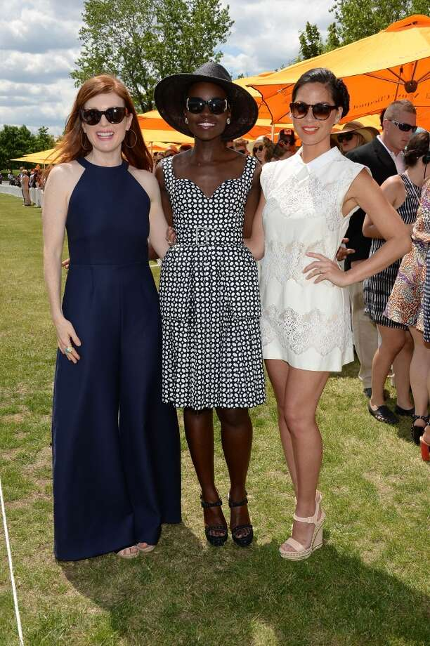 Julianne Moore, Lupita Nyong'o and Olivia Munn attends the seventh annual Veuve Clicquot Polo Classic in Liberty State Park on May 31, 2014 in Jersey City City. Photo: Dimitrios Kambouris, Getty Images For Veuve Clicquot