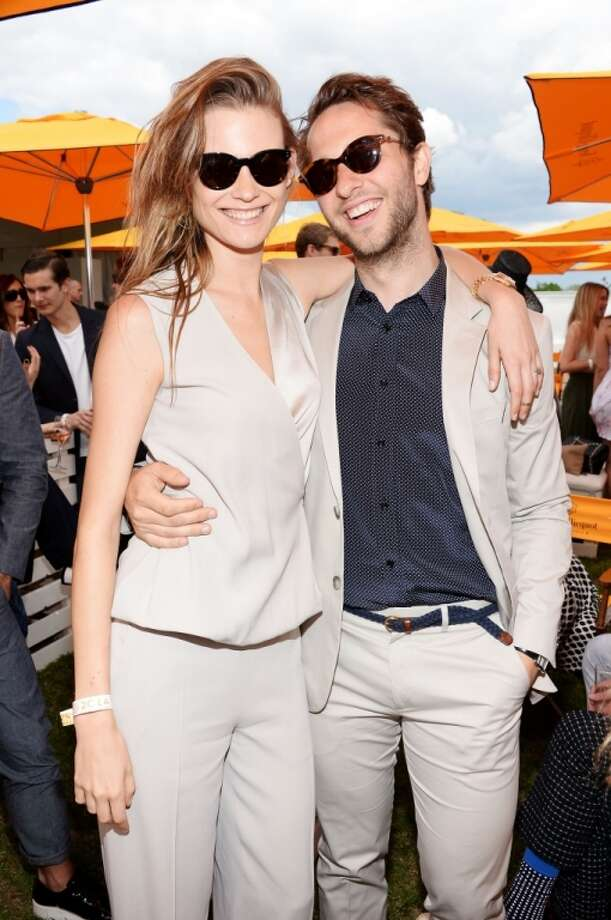 Model Behati Prinsloo and Derek Blasberg attend the seventh annual Veuve Clicquot Polo Classic in Liberty State Park on May 31, 2014 in Jersey City City. Photo: Dimitrios Kambouris, Getty Images For Veuve Clicquot