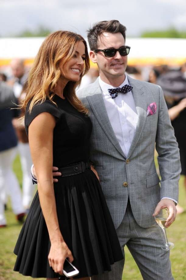 Kelly Bensimon (L) attends the seventh annual Veuve Clicquot Polo Classic in Liberty State Park on May 31, 2014 in Jersey City City. Photo: Dimitrios Kambouris, Getty Images For Veuve Clicquot