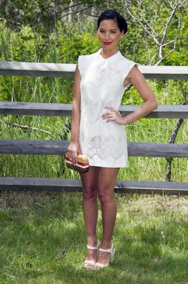 Olivia Munn attends the Veuve Clicquot Polo Classic on Saturday, May 31, 2014, in Jersey City, N.J. Photo: Charles Sykes, Associated Press