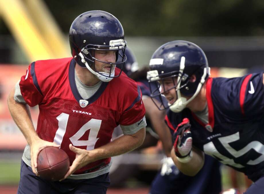 Texans quarterback Ryan Fitzpatrick and participates in OTAs. Photo: J. Patric Schneider , For The Chronicle