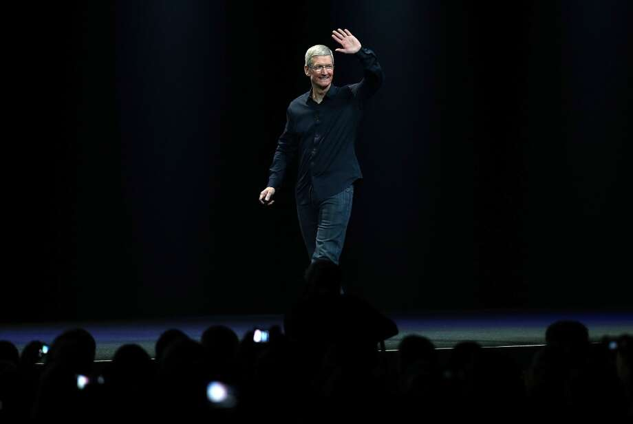 Apple CEO Tim Cook arrives to speak during the Apple Worldwide Developers Conference at the Moscone West center in San Francisco on June 2. Photo: Getty Images