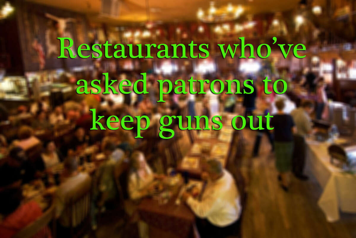 Two incidents at a San Antonio Chili's and Sonic, as well as four other restaurants, have caused the National Rifle Association to criticize open carry displays at restaurants by the group Open Carry Texas. Click ahead to see which restaurants have said no to guns.