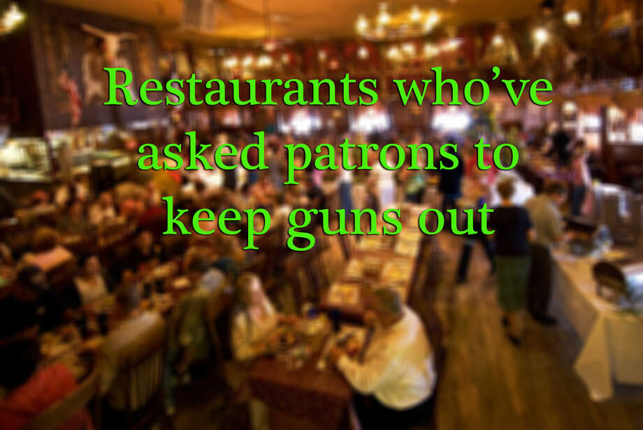 Two incidents at a San Antonio Chili's and Sonic, as well as four other  restaurants, have caused the National Rifle Association to criticize  open carry displays at restaurants by the group Open Carry Texas. Click ahead to see which restaurants have said no to guns.  Photo: Stephen Saks, Photo Illustration