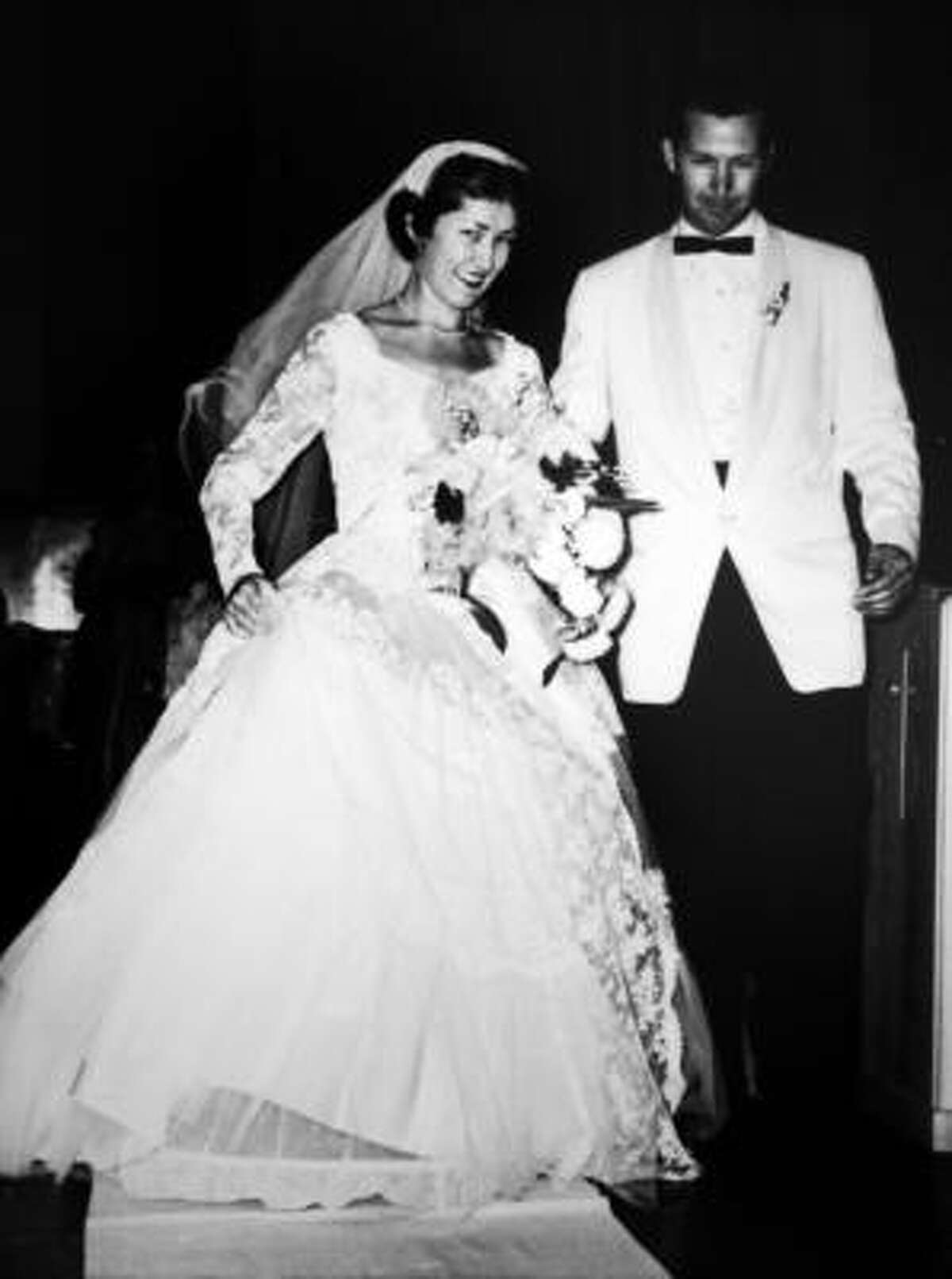 John and Dodie Osteen on their wedding day in 1954. The couple had six children, all of whom are involved with ministry.