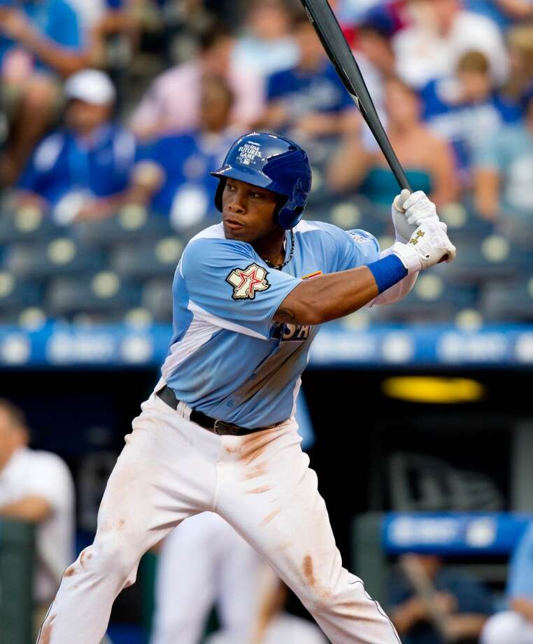 3. In his first full season in the Astros organization, Singleton had 21 homers and 79 RBI in 131 games with Class AA Corpus Christi in 2012. Photo: Kyle Rivas, Getty Images
