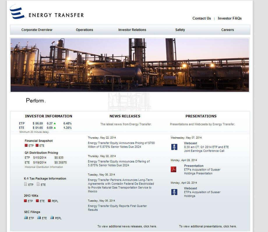 No. 54: Energy Transfer Equity Previous Rank: 161 Headquarters: Dallas, Texas