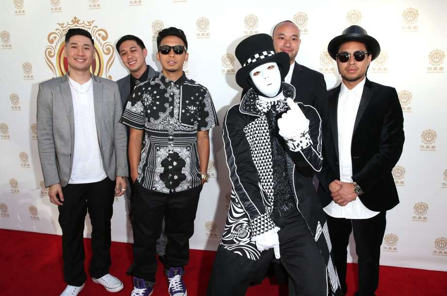 Dance crew Jabbawockeez attend the Huading Film Awards on June 1, 2014 at Ricardo Montalban Theatre in Los Angeles, California. Photo: Mark Davis, Getty Images