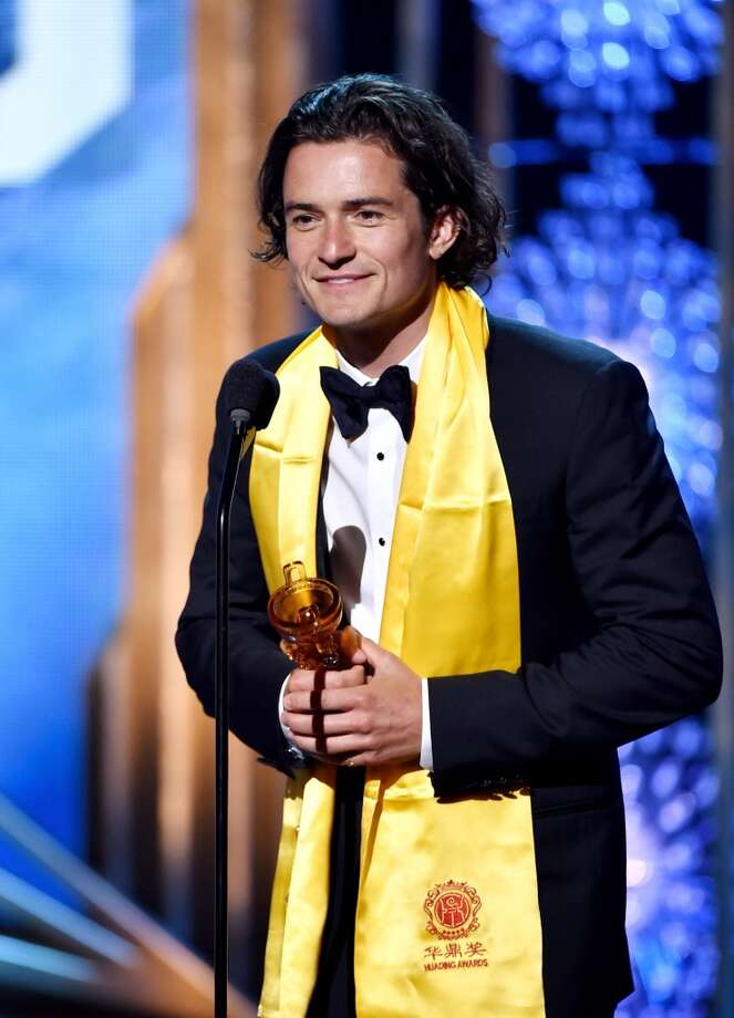 Actor Orlando Bloom accepts the Global Male Star Award at the 2014 Huading Film Awards at The Montalban Theatre on June 1, 2014 in Los Angeles, California. Photo: Kevin Winter, Getty Images