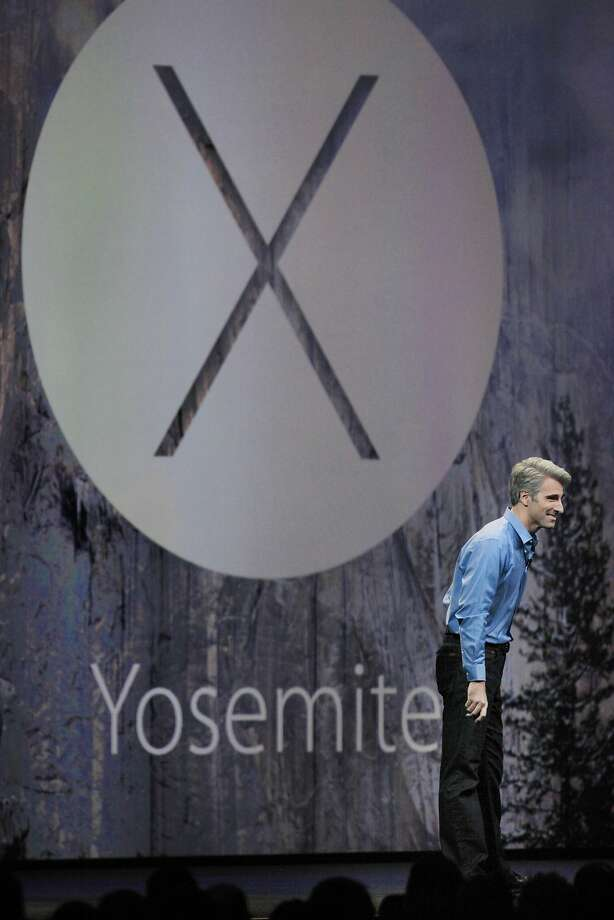 Apple senior vice president of Software Engineering Craig Federighi introduced the Yosemite operating system. Photo: Lea Suzuki, The Chronicle