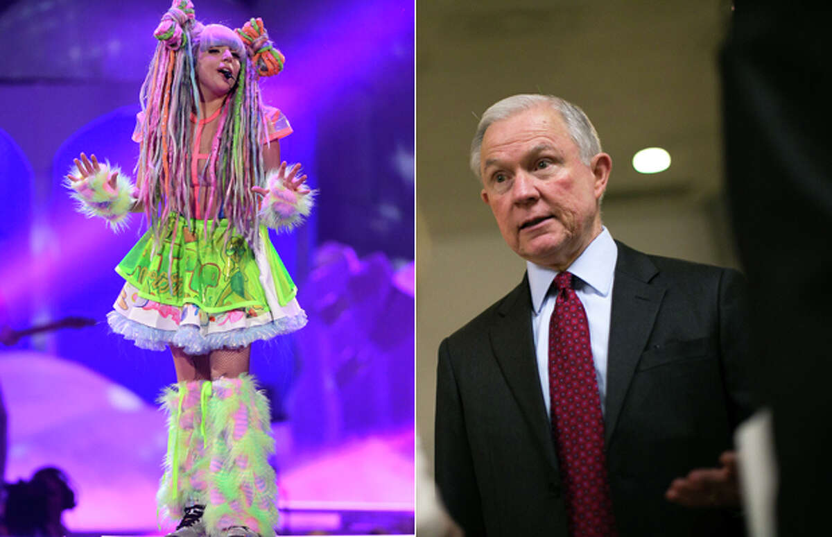 """When discussing marijuana legalization at Senate hearing with then-Attorney General Eric Holder, Sen. Jeff Sessions, R-Ala., weightily argued: """"Lady Gaga says she's addicted to it and it is not harmless."""" What Gaga actually said was that she smoked marijuana to deal with the mental and physical challenges of her career. Sessions is the incoming U.S. attorney general and a longtime enemy of legal pot."""