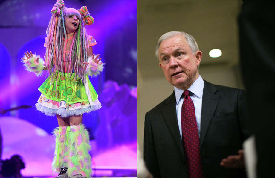 "When discussing marijuana legalization at Senate hearing, , Sen. Jeff Sessions, R-Ala., weightily argued: ""Lady Gaga says she's addicted to it and it is not harmless."" According to People mag, Gaga said that she smoked marijuana to deal with the mental and physical challenges of her career Sessions is now U.S. Attorney General.  Gov. Jay Inslee and three other governors, whose states have legalized recreational marijuana, want Sessions to keep his hands off a regulatory system that is working."