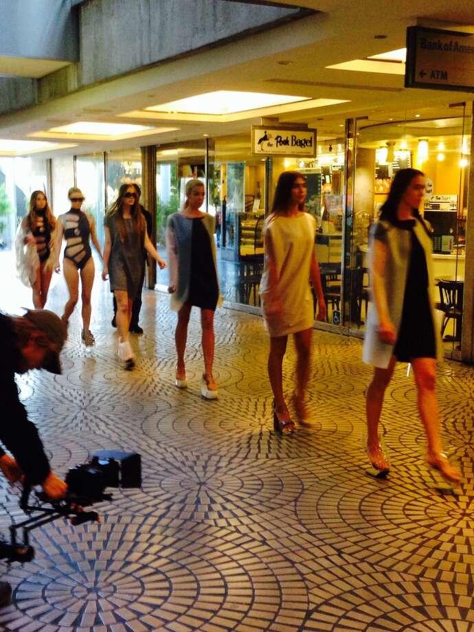 "Ilanio's ""COLBOL 77"" Spring-Summer swimwear collection at Embarcadero Center. Photo: Tony Bravo"