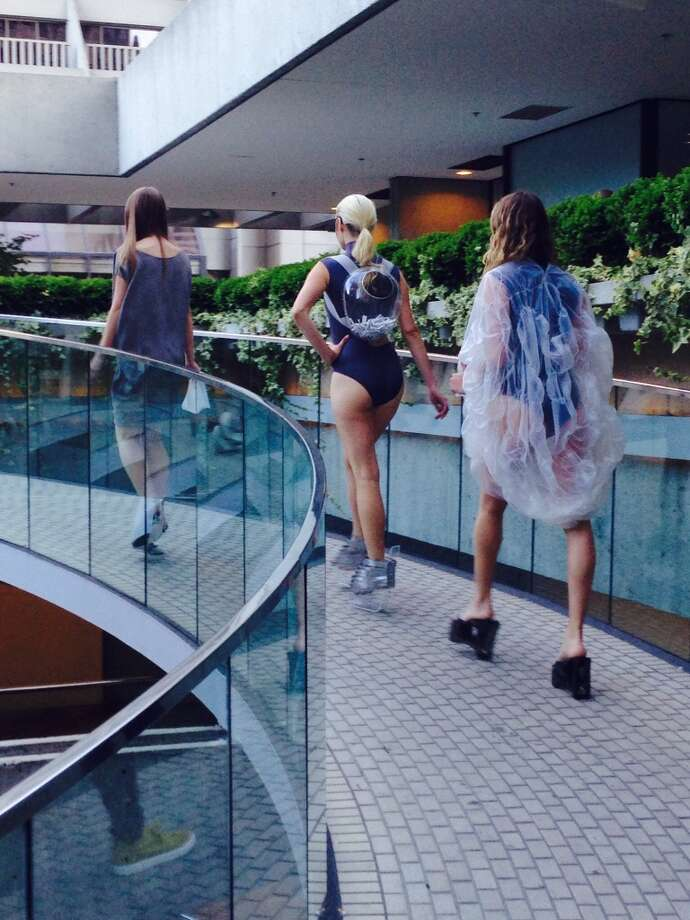 "Ilanio's ""COLBOL 77"" Spring-Summer swimwear collection at Embarcadero Center. Photo: Tony Bravo"
