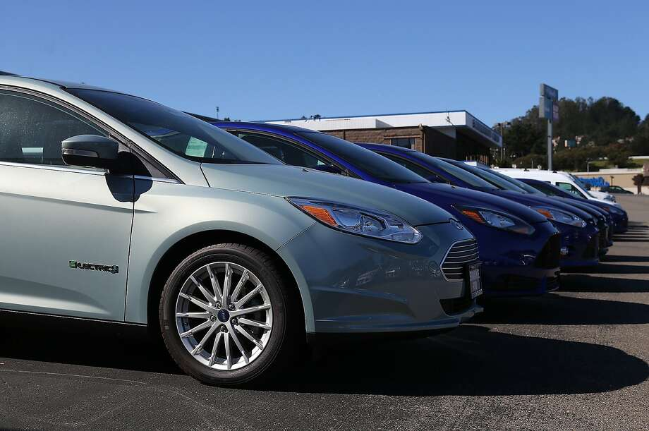 Ford - along with General Motors and Chrysler - is projected to show that Americans are continuing to buy more of their cars. Photo: Justin Sullivan, Getty Images