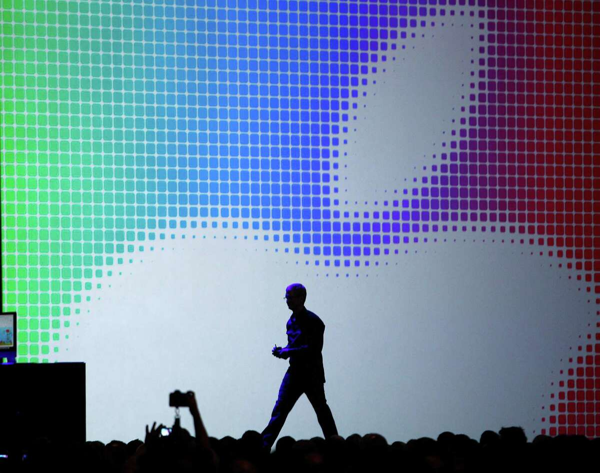 Apple CEO Tim Cook at the 2014 developers conference. This year the event will be June 8-12.