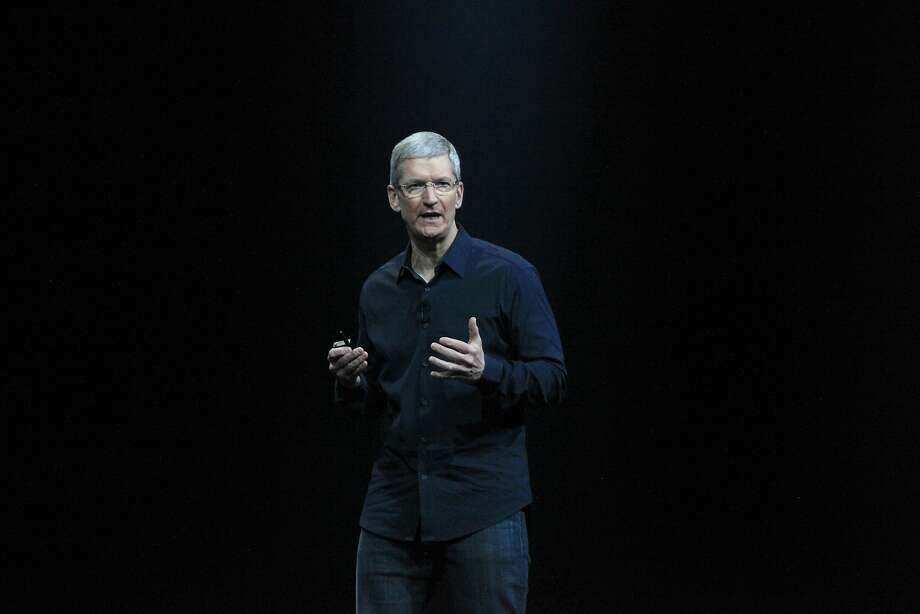 Apple chief executive officer Tim Cook speaks during the keynote for the Apple Worldwide Developers Conference 2014 at Moscone West in San Francisco. The conference runs through June 6. Photo: Lea Suzuki, The Chronicle