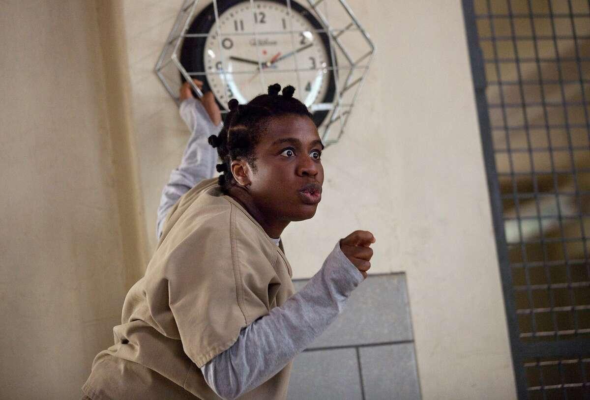 "Uzo Aduba in a scene from Netflix?•s ?'Orange is the New Black?"" Season 2."