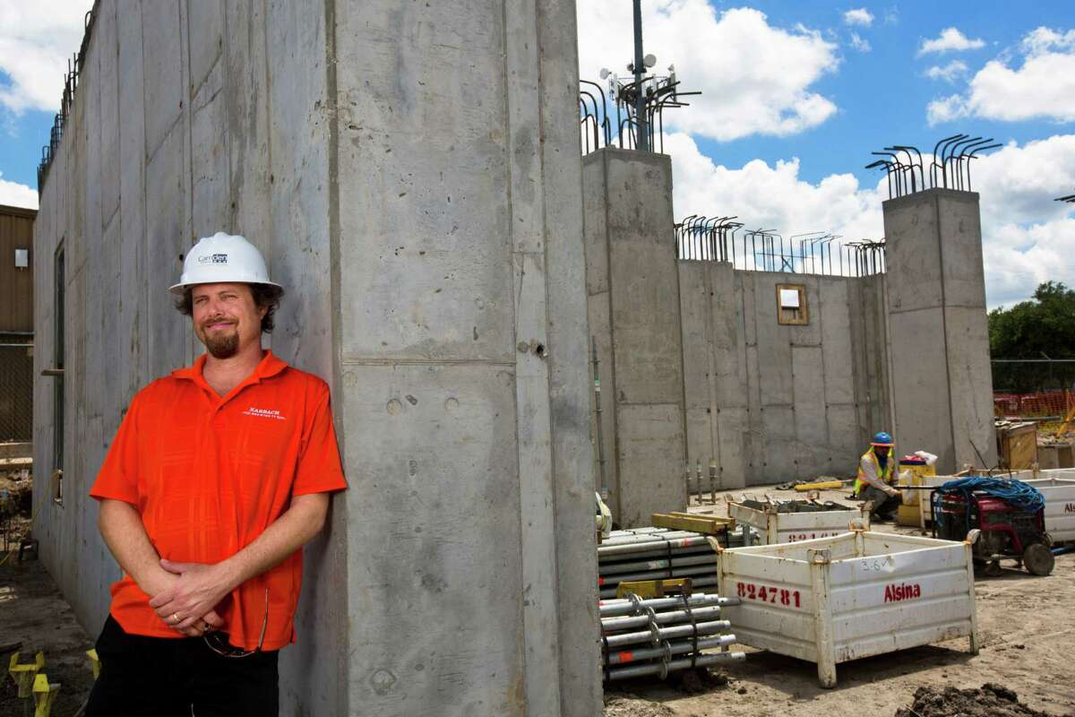 Eric Warner Karbach Brewing brewmaster stands by the construction site where the new brewing tanks will be placed. The project, which will also include a restaurant, will give Karbach immediate capacity to produce 60,000 barrels annually. Monday, June 2, 2014, in Houston. ( Marie D. De Jesus / Houston Chronicle )