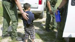"A 4-year-old boy from Honduras approached a police officer in Anzaldulas Park earlier this year after crossing the Rio Grande from Mexico in  Mission. Child welfare advocates have predicted the number of unaccompanied  children entering the U.S. could reach 60,000 this year, attributing the  influx primarily to a growing ""humanitarian crisis"" caused by rampant  gang and cartel violence in Central and South America."