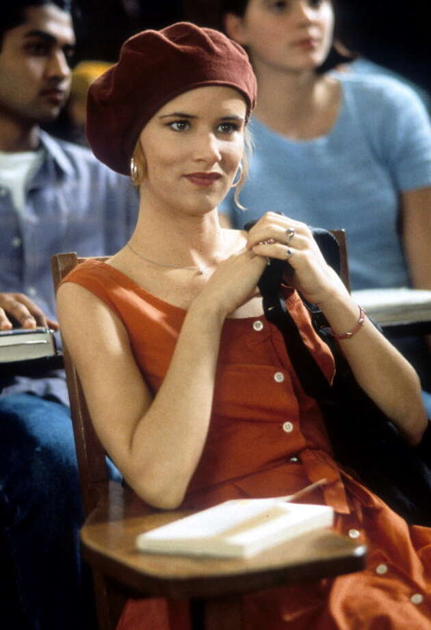 Juliette Lewis sitting in class in a scene from the film 'The Evening Star', 1996. Supposedly young and fresh, she seemed as wholesome as a dead blues singer. Photo: Archive Photos, Getty Images / 2012 Getty Images