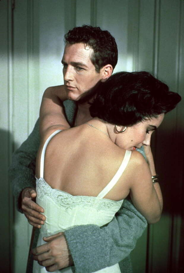Paul Newman, with Liz Taylor, in CAT ON A HOT TIN ROOF.  Newman was lost, possibly because of censorship, which transformed his character's crippling gay panic into anger that his wife may have almost cheated on him years before.  He just yelled through the movie. Photo: Francois LOCHON, Gamma-Rapho Via Getty Images / 2011 Gamma-Rapho