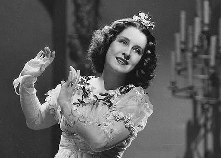 Norma Shearer in ROMEO AND JULIET (1936).  This was the mistake of her career, and poses like the one above gave lazy critics of the next generation license to dismiss her entire career without examining it.  Two ironies:  This film was completely against the pattern of the rest of her career.  And, in fact, she's really good in the last act.  But by then it's too late.  This is the Shearer movie that can only be watched when drunk.