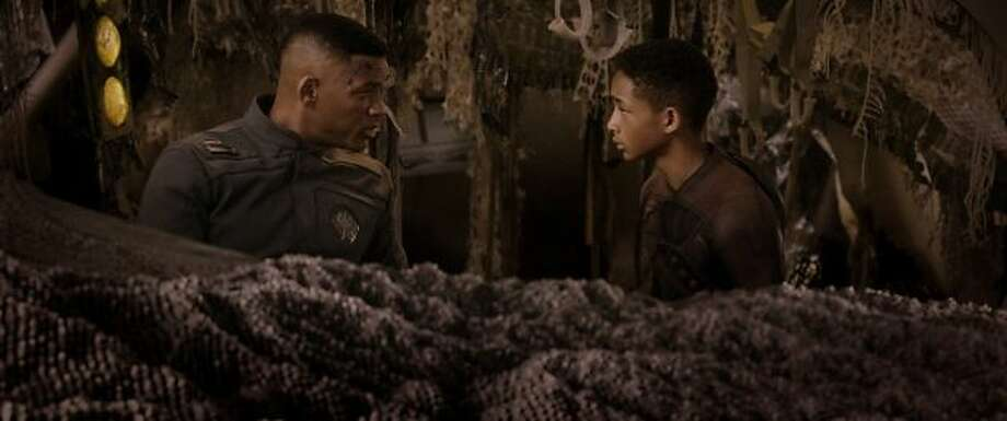 """Will Smith in """"After Earth"""" (2013), sour in disposition, as though he knew this was a mistake."""
