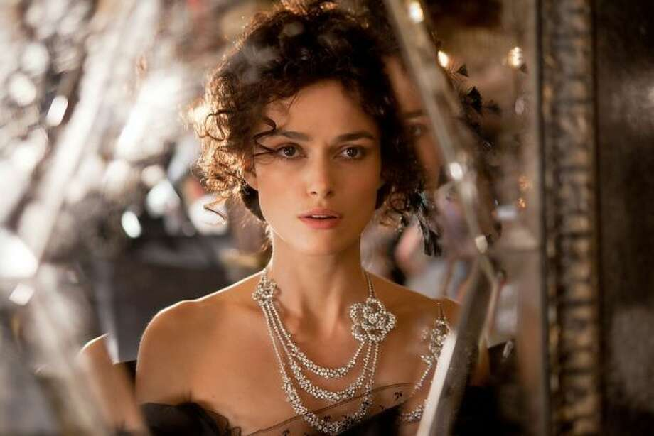 Keira Knightley in ANNA KARENINA.  You know something is wrong when you start rooting for the train.