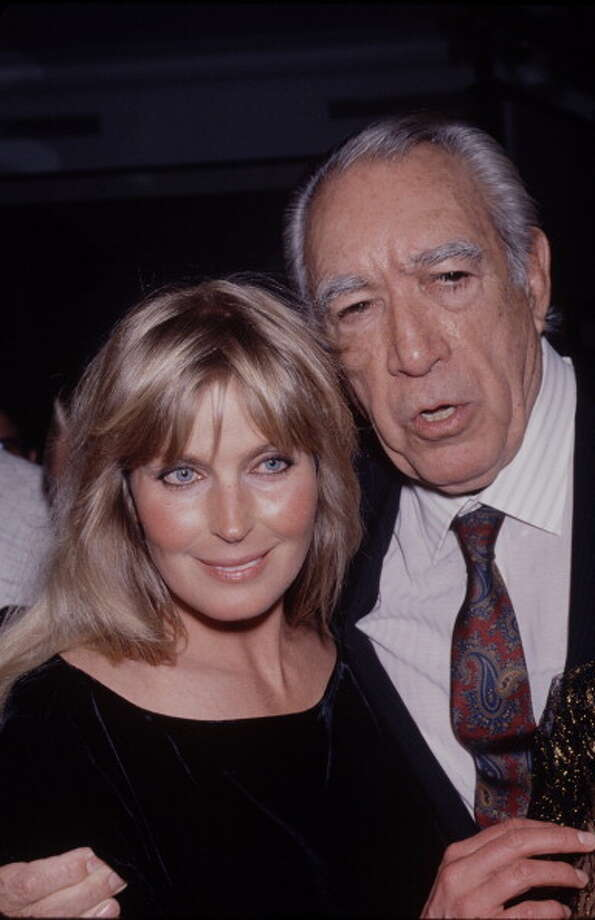 October 1989: American actress Bo Derek attends Anthony Quinn's art exhibition at the Plaza Hotel  in New York City.  That was the same year in which Quinn hit bottom, starring opposite Derek in GHOSTS CAN'T DO IT, playing the ghost of her husband who still wanted to have sex with her.  On the short list of worst movies ever made. Photo: Time & Life Pictures, Time Life Pictures/Getty Images / Time & Life Pictures