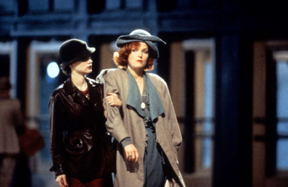 Jennifer Jason Leigh and Miranda Richardson in a scene from the film 'Kansas City' (Altman, 1996).  Leigh is an actress who takes chances, and that's great.  Here her over-the-top take on the character didn't quite work out. Photo: Hulton Archive, Getty Images / 2012 Getty Images