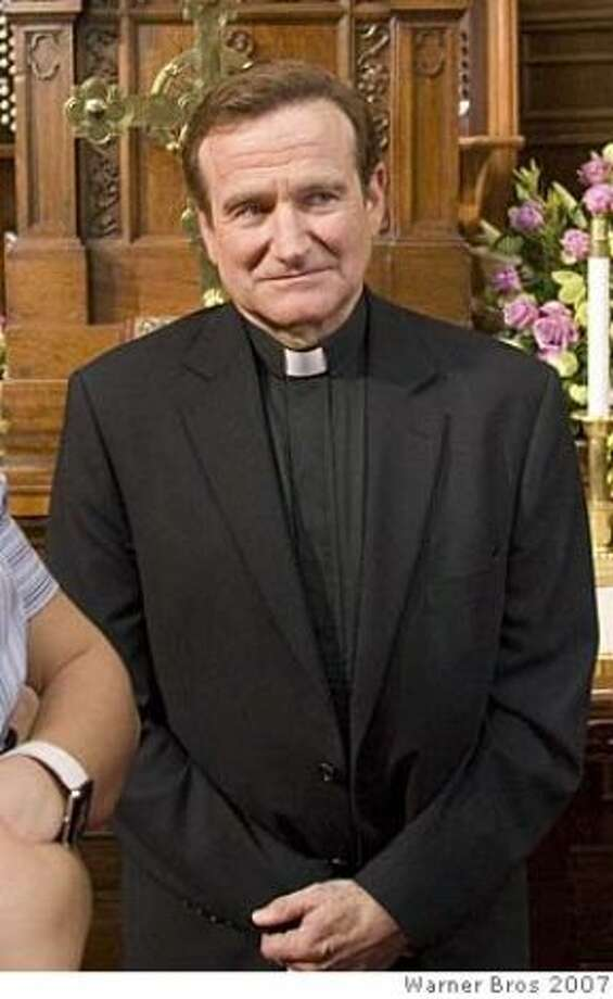Robin Williams in LICENSE TO WED (2007).  Williams makes this list twice, because no one could leave out his turn here as the most annoying Catholic priest ever imagined.