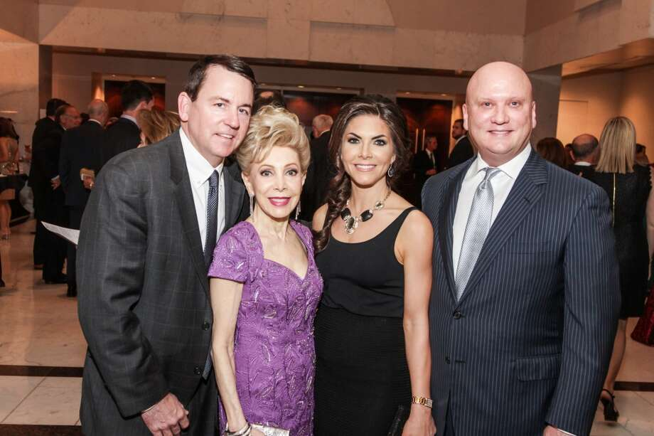 Baron Segar, Margaret Williams, Monica Blaisdell and John Blaisdell at the Mission of Yahweh Mission Incredible Gala, A Heavenly Evening in Musical, Magical Vienna. May 2, 2014, Hilton Houston Post Oak. Photo: Kim Coffman