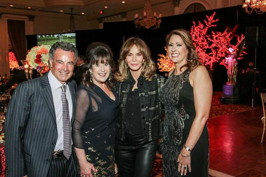 Henri and Susan S. Soussan, Jaclyn Smith, Christine Kirschner at the Mission of Yahweh Mission Incredible Gala, A Heavenly Evening in Musical, Magical Vienna. May 2, 2014, Hilton Houston Post Oak. Photo: Kim Coffman