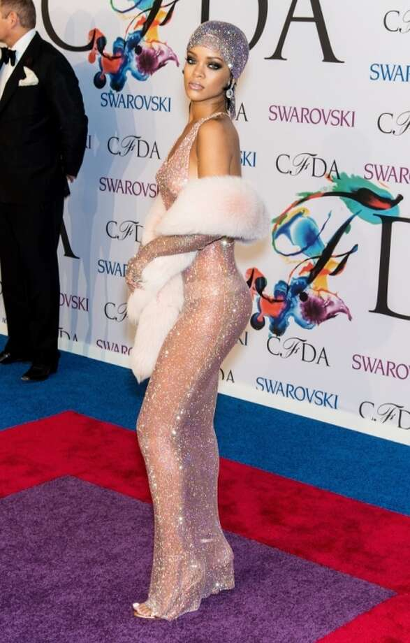 Rihanna attends the 2014 CFDA fashion awards at Alice Tully Hall, Lincoln Center on June 2, 2014 in New York City. Photo: Gilbert Carrasquillo, FilmMagic