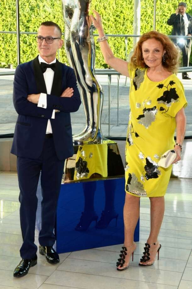 CFDA President Steven Kolb and designer Diane Von Furstenberg attend the 2014 CFDA fashion awards at Alice Tully Hall, Lincoln Center on June 2, 2014 in New York City. Photo: Larry Busacca, Getty Images