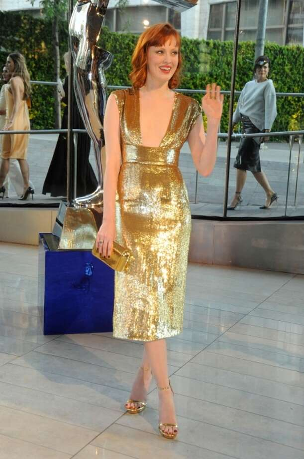 Karen Elson attends the 2014 CFDA fashion awards at Alice Tully Hall, Lincoln Center on June 2, 2014 in New York City. Photo: Rabbani And Solimene Photography, WireImage